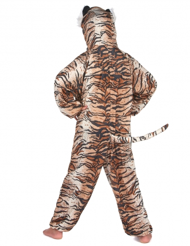 Tiger Kostüm für Kinder schwarz-beige-orangefarben-5