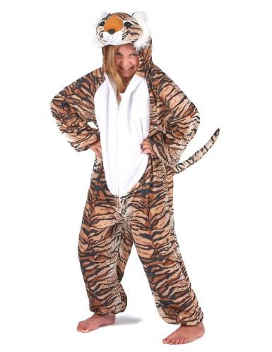 Tiger Kostüm für Kinder schwarz-beige-orangefarben-6