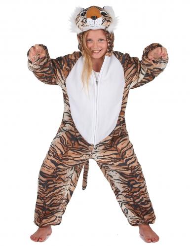 Tiger Kostüm für Kinder schwarz-beige-orangefarben-7