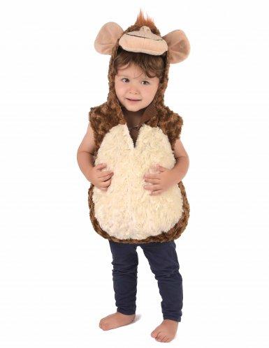 Flauschiges Affenkostüm für Kinder braun-beige-1