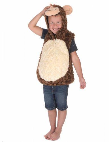Flauschiges Affenkostüm für Kinder braun-beige-2