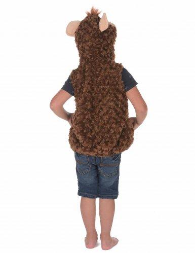 Flauschiges Affenkostüm für Kinder braun-beige-3