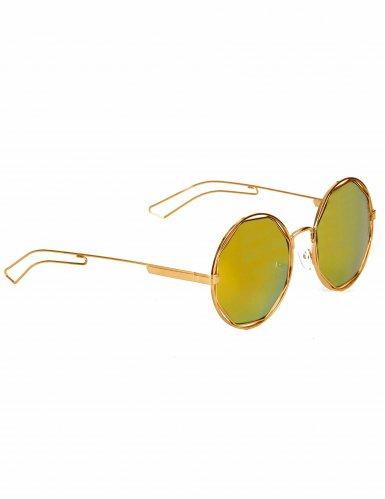 Runde Retro-Brille gold-metallic
