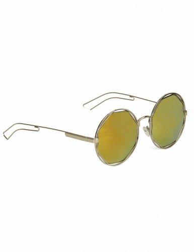 Runde Retro-Brille silber-metallic