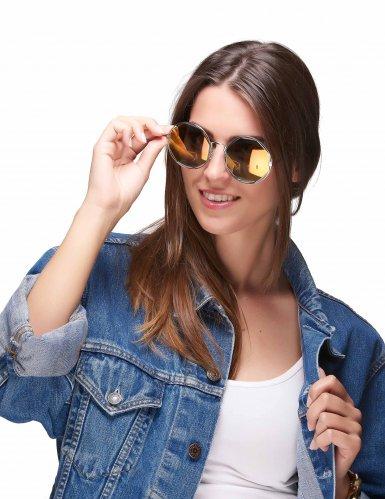 Runde Retro-Brille silber-metallic-1