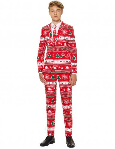 Mr. Winterwonderland Opposuits™ Teen-Kostüm rot-bunt