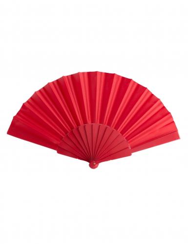Fächer Kostüm-Accessoire Karneval rot