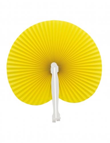 Papier-Fächer Kostümzubehörfür Damen gelb