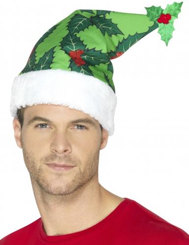 Stechpalme Weihnachtsmütze grün-rot