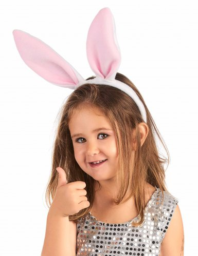 Kaninchenohren-Stirnband rosa-1