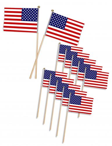 USA-Flaggen-Pieker 12 Stück 11x7,5cm