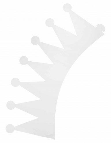Anpassbare Papierkronen weiß