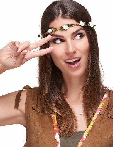 Elastisches Haarband mit Blüten-1