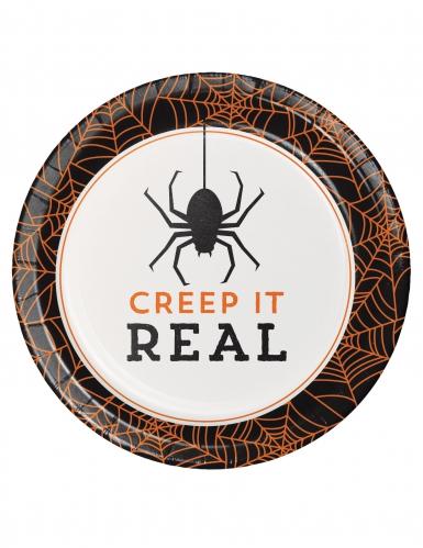 8 Pappteller für Halloween Creep it real