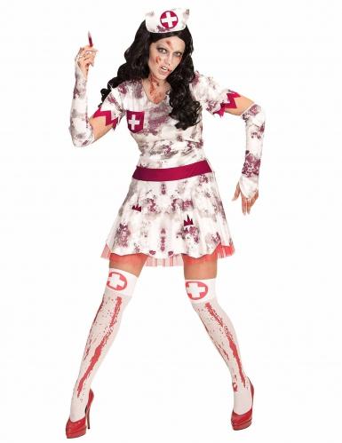 Zombie Krankenschwester Kostüm Damen Halloween