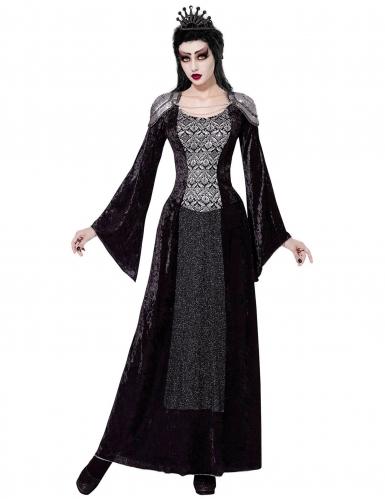 Königin der Dunkelheit Damenkostüm schwarz-silber