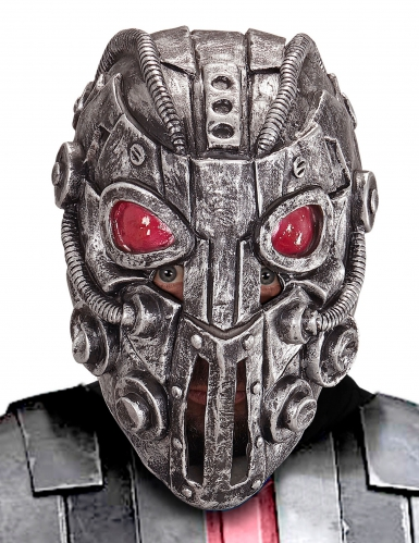 Außerirdische-Maske für Erwachsene silber