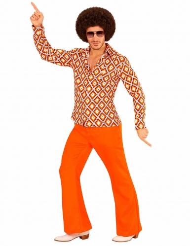 70er-Jahre Retrohemd für Erwachsene Orange