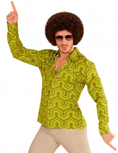 Verrücktes 70er-Jahre Hemd für Herren bunt