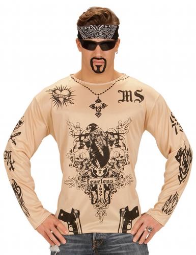 Tattoo Shirt für Erwachsene transparent-schwarz