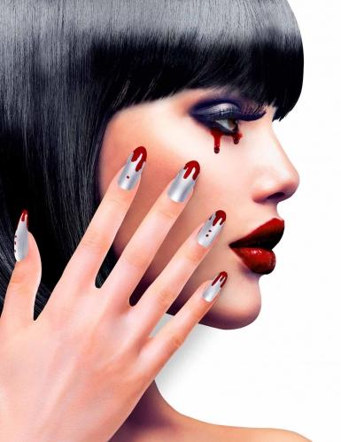 Künstliche Fingernägel mit blut weiss-rot