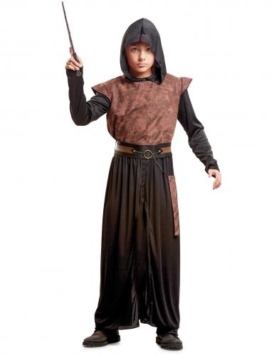 Edles Magier Kinder-Kostüm braun-schwarz