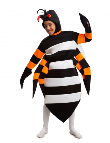 Tigermücke Tierkostüm für Kinder schwarz-weiss