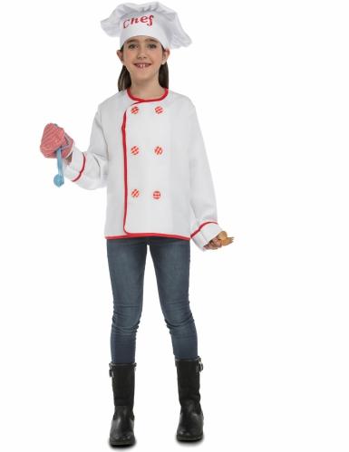 Chefkoch Kinder-Kostüm weiß-rot-1