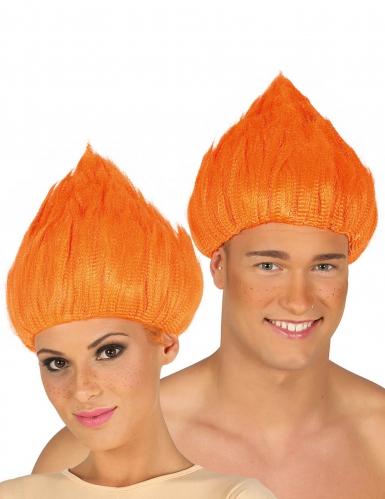 Troll-Perücke Unisex Kostümzubehör orange