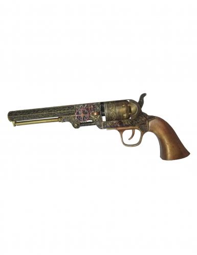 Steampunk Revolver Spielzeug braun 25 cm