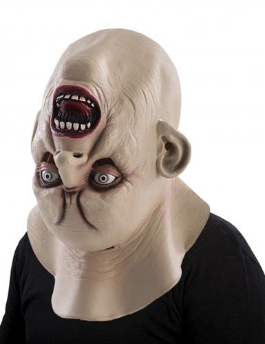 Monster Kopf Horror-Maske für Halloween hautfarbe