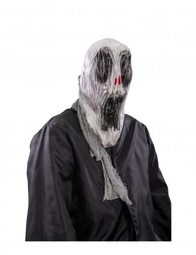 Teuflischer Dämon Halbmaske rot-schwarz