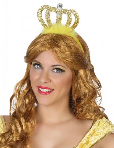 Prinzessinnen Diadem gold für Erwachsene