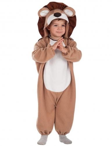 Löwe Babykostüm braun-beige-weiß