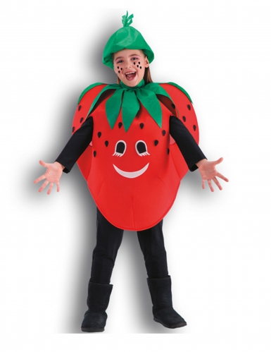 Erdbeere Kinder-Kostüm rot-grün