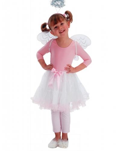 Engel Accessoire-Set für Kinder rosa-weiß