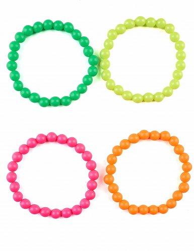 4 Bunte Perlen Armbänder für Erwachsene