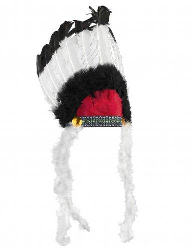 Indianer Häuptlings-Kopfbedeckung mit Federn für Erwachsene