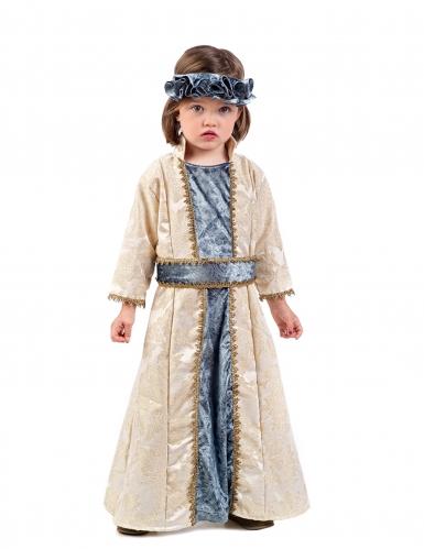 Mittelalterliche Prinzessin Kinder-Kostüm gold-grau-beige