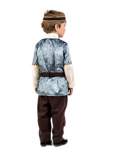 Mittelalterlicher Prinz Kinder-Kostüm silber-gold-beige-1