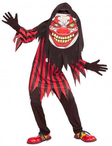 Clown Kostüm mit riesen Kopf für Jugendliche