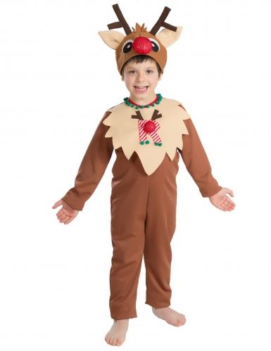 Kleidung & Accessoires Rentierkostüm  KINDER Rentier Weihnachten Kostüm