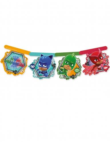 Girlande aus Pappkarton PJ Masks™ 163,5 cm