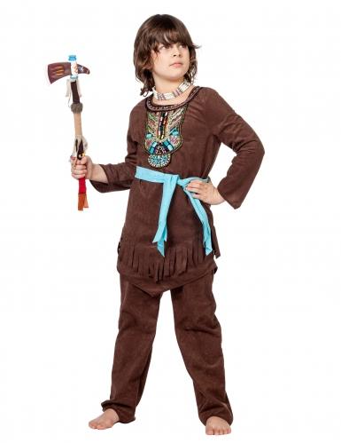 Indianer Kinder-Kostüm für Jungen braun-bunt