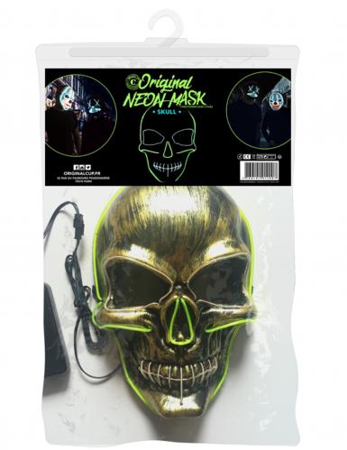 Neon-Maske Skelett für Erwachsene-1