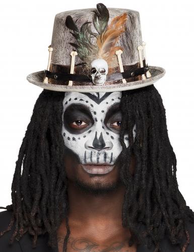 Voodoo Zylinder für Erwachsene Halloween
