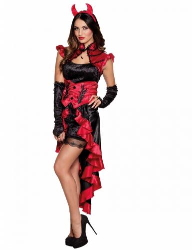 Halloween Teufelinnen-Kostüm für Damen