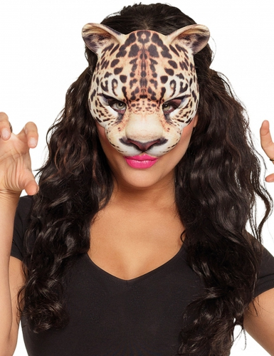 Tiermaske Leopard für Erwachsene braun