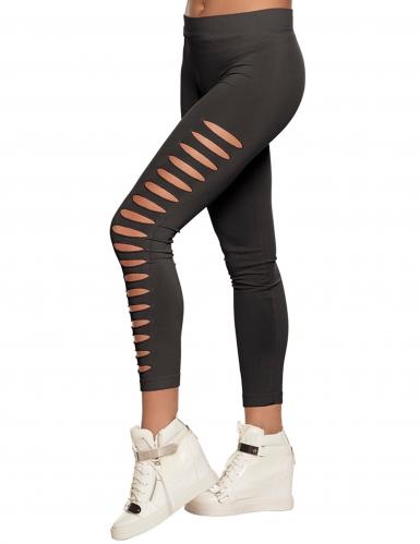 Schwarze Leggings mit Cutouts für Erwachsene