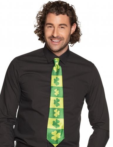 Krawatte Kleeblätter für Erwachsene St. Patrick's Day